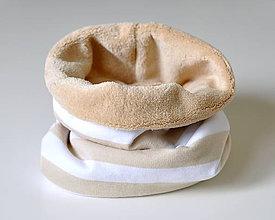 Detské doplnky - detský nákrčník oteplený prúžky - 8549539_