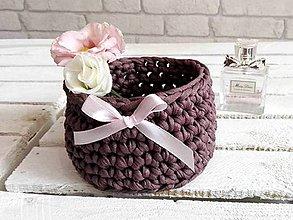 Košíky - pletený košíček mini Moly hnedý - 8547284_