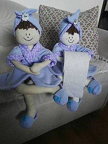 Dekorácie - WC dáma v modrom - 8549374_