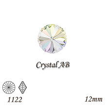 Korálky - SWAROVSKI® ELEMENTS 1122 Rivoli - Crystal AB, 12mm, bal.1ks - 8547475_