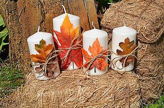 Svietidlá a sviečky - Jesenné sviečky - 8553540_