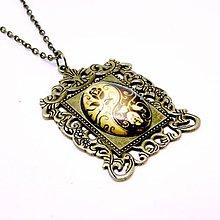 Náhrdelníky - Ornament Bronze Filigree Necklace / Starobronzový vintage náhrdelník s ornamentmi /0496 - 8551037_