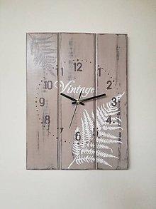 Hodiny - Nástenné hodiny - paprade v piesku - 8550791_