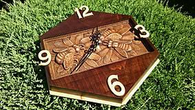 Hodiny - Nástenné hodiny Včely - 8553645_