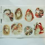 - Ryžový papier na decoupage - A4-R1006 - Vianoce, dedo mráz - 8551693_