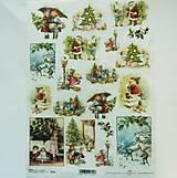 - Ryžový papier na decoupage - A4 - R602 - Vianoce, sneh, zima - 8551783_