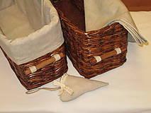 Košíky - Košíky - Ebenové v ražnej košieľke - 8551838_