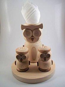 Krabičky - Drevená soľnička a korenička - 8554130_