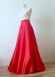 Sukne - Saténová sukňa dlhá - 8552064_