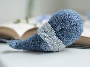 Hračky - Modrá veľryba - 8552610_