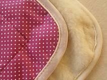 Textil - Spací pytel pro deti a miminka na míru zimní 100% ovčie rúno MERINO TOP super wash S/M/L/XL/XXL ružový - 8550814_