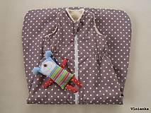 Textil - Spací vak pre deti a bábätká ZIMNÝ 100% MERINO na mieru Hviezdička hnedá - 8550895_