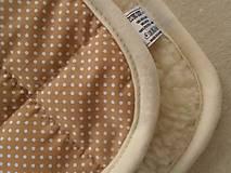 Textil - Spací vak pre deti a bábätká ZIMNÝ 100% MERINO na mieru Hviezdička hnedá - 8550969_