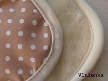 Textil - Spací vak pre deti a bábätká ZIMNÝ 100% MERINO na mieru Hviezdička hnedá - 8551029_