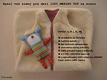 Textil - Spací vak pre deti a bábätká ZIMNÝ 100% MERINO na mieru Hviezdička hnedá - 8551032_