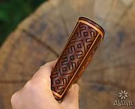 Peňaženky - Kožená peňaženka VI. Kolovratoč - 8553750_