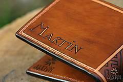 Peňaženky - Kožená peňaženka VI. Kolovratoč - 8553753_
