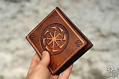 Peňaženky - Kožená peňaženka VI. Kolovratoč - 8553757_