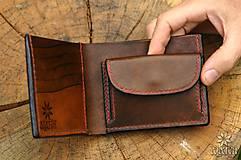 Peňaženky - Kožená peňaženka VI. Kolovratoč - 8553761_