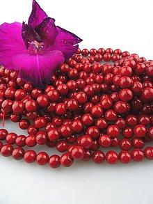 Minerály - koral červený prírodný korálky 9-9,5mm - 8552461_