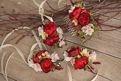 """Náramky - Náramok na ruku """"Růže s kalinou"""" - 8552053_"""