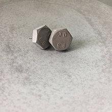 Náušnice - Betónky Hex nuts JD 8.8 - 8553105_
