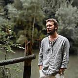 Oblečenie - Pánska ľanová košeľa - rôzne farby - 8550709_