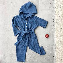 Detské oblečenie - Detký ľanový overal - rôzne farby - 8550746_