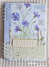Papiernictvo - Receptárik (herbárium - modrý) - 8554132_