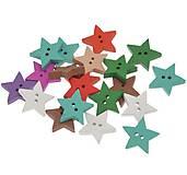 Gombíček drevený hviezdička 1,8 cm