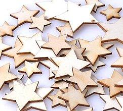 Polotovary - Drevený výrez hviezdička - 8551090_