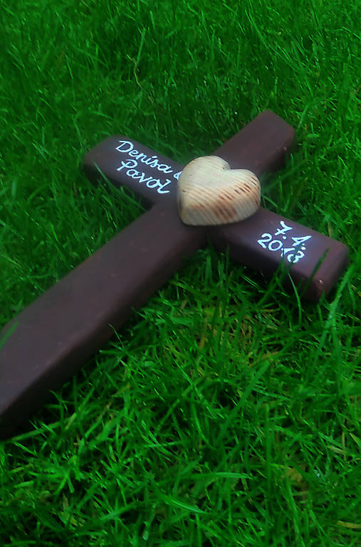 4425d7348 Svadobný krížik / cedulkovo - SAShE.sk - Handmade Dekorácie