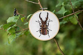 """Dekorácie - Vyšívaný kruh """"Roháčik"""", 13,5 cm - 8552950_"""