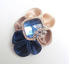 Odznaky/Brošne - Elegancia a la Chanel - indigo de Luxe brošňa - 8550891_