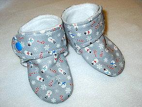 Topánočky - snehuliaci - 8554227_