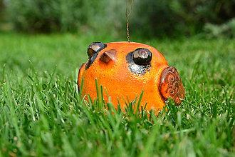 Dekorácie - Zvonček - pipinka oranžová - 8550875_