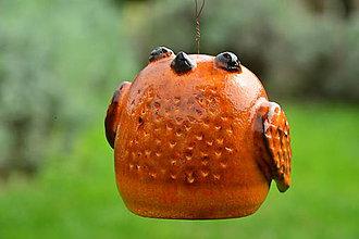 Dekorácie - Zvonček - pipinka oranžová - staršia sestra - 8551070_