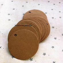 Papier - Set 10ks visačiek kruh+ šnúrka, ihneď - 8553611_