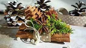 Dekorácie - Vianočné ozdoby - natur škoricovníky - 8553930_