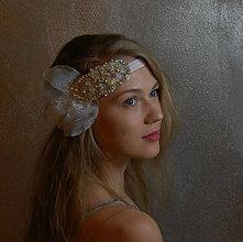 Ozdoby do vlasov - Great Gatsby Wedding Lace ... čelenka - 8555224_