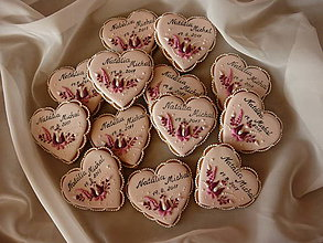 Dekorácie - svadobné medovníčky - 8555074_