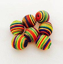Korálky - Textilné korálky 1,5 cm/ 1 kus - 8554436_