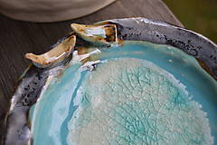 miska modrá s vtáčikami