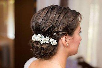 Ozdoby do vlasov - tiara z korálok - 8557246_