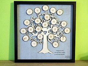 Dekorácie - svadobná kniha hostí/drevený strom 6 - 8554381_