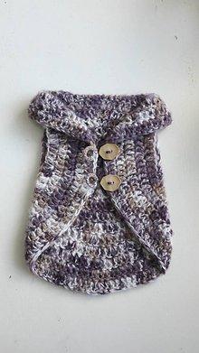 Detské oblečenie - Teplá vestička Lila - 8556238_