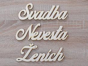 Polotovary - Svadba-Nevesta-Ženích (set 70x217mm) - 8557450_