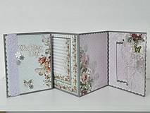 Papiernictvo - Svadobné leporelo - romantika s motýlikmi - 8557431_
