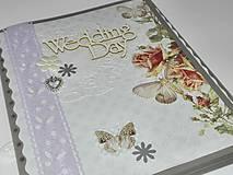 Papiernictvo - Svadobné leporelo - romantika s motýlikmi - 8557439_