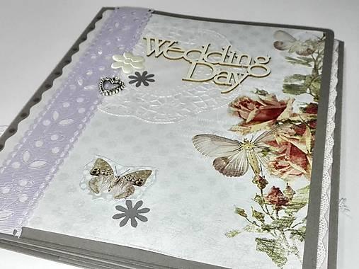 Svadobné leporelo - romantika s motýlikmi